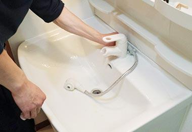 洗面所清掃の画像
