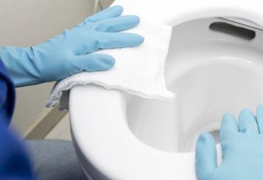 トイレ清掃の画像
